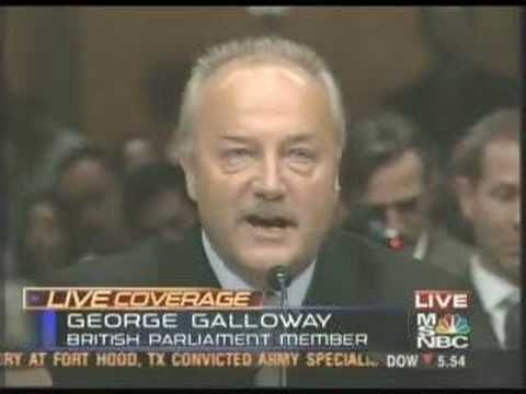 George Galloway vs. U.S Senate (5/17/05) - YouTube.  Everyone should listen to this
