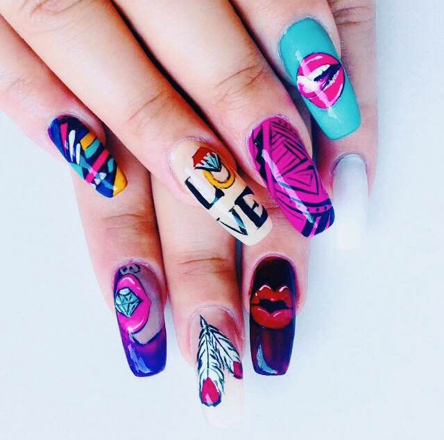 8 best Fan Nail Art images on Pinterest