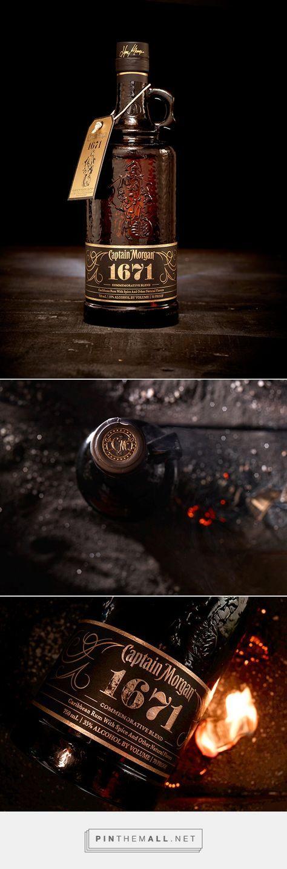 Captain Morgan 1671 Special Edition   #packaging #bottledesign #rum Tolle Geschenkideen mit Captain Morgan Rum gibt es bei http://www.dona-glassy.de/Themengeschenksets/Geschenksets-Captain-Morgan:::24_2.html