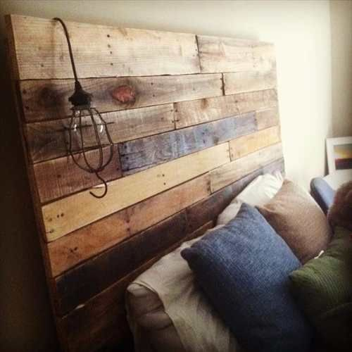 respaldo pallets . cama pallets - madera reciclada - palets