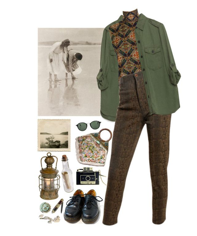 """bay"" by paper-freckles ❤ liked on Polyvore featuring Dr. Martens, Ray-Ban, Zara, Laura Biagiotti, Emanuel Ungaro and NOVICA"