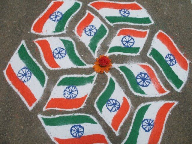 India-Flag-Rangoli