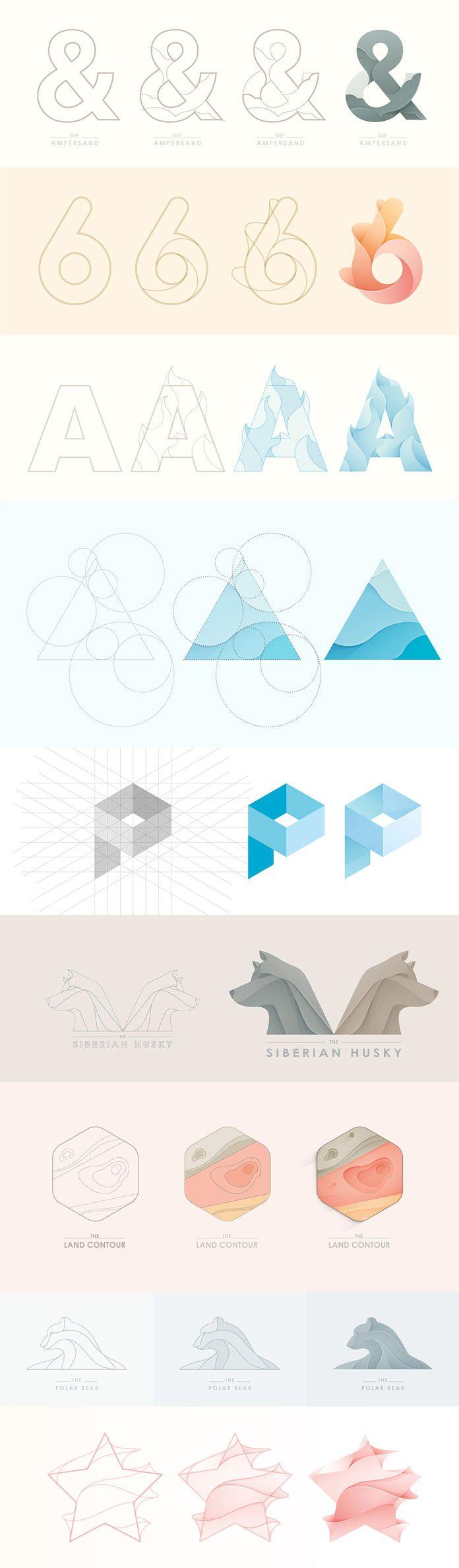 Logo designs - process case studies by Yoga Perdana.