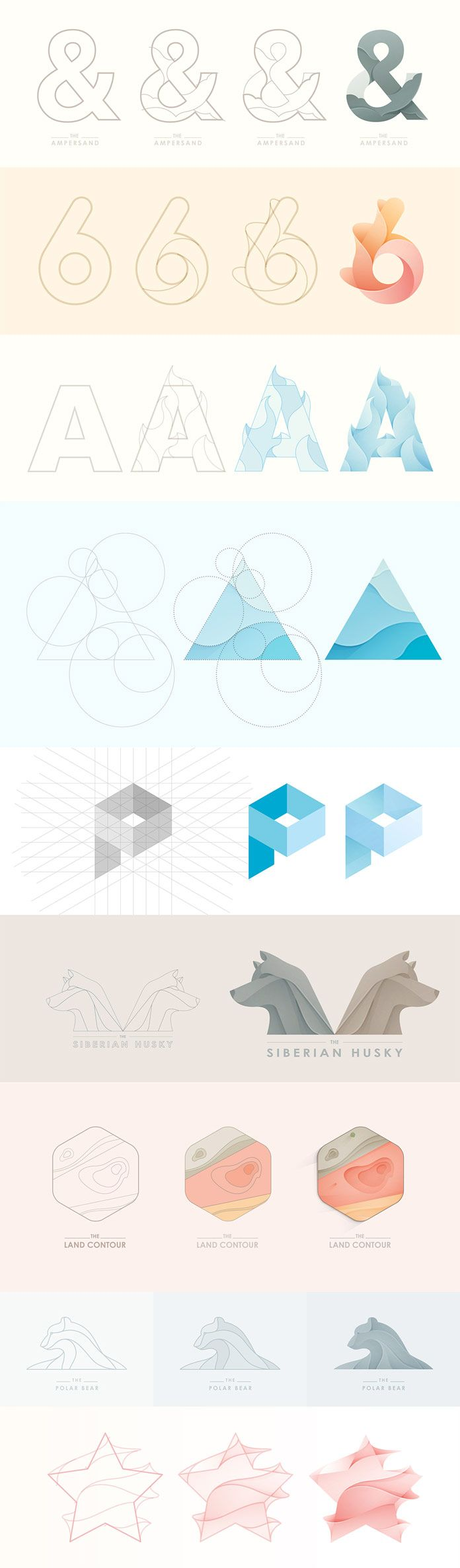 Logo designs - process case studies by Yoga Perdana.