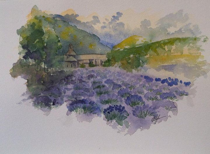 France. Provence. Aquarelle. Watercolor. 2013
