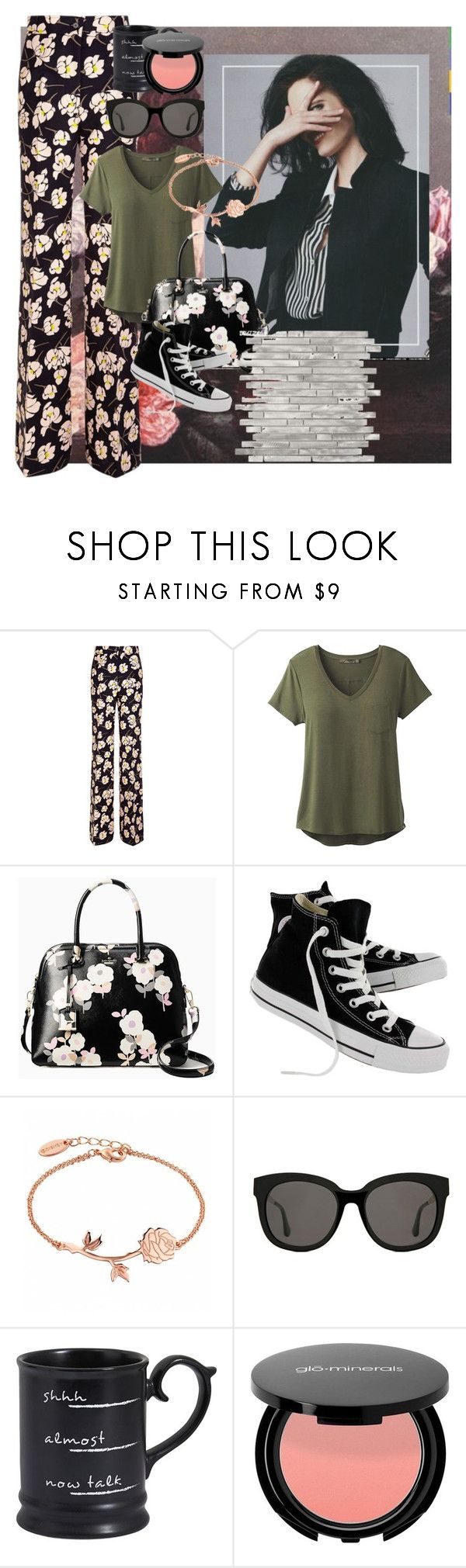 """low defends"" by betsabe13 ❤ liked on Polyvore featuring Rochas, prAna, Kate Spade, Converse, Gentle Monster and Pier 1 Imports"