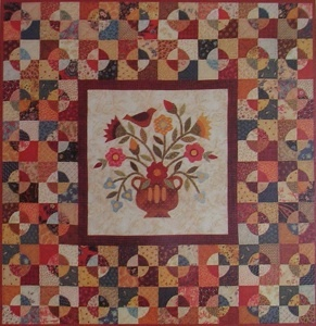 .: Mixed Flowers, Quiltingquilt Rooms, Quilts Patterns, Rabbit Factories, Applique Quilts, Flowers Wallhangingpattern, Floral Quilts, Flowers Wallhang Patterns, Antiek Quilts
