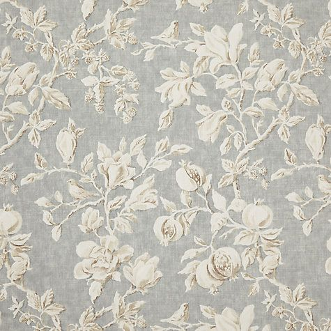Buy Sanderson Magnolia and Pomegranate Curtain, Grey Blue | John Lewis