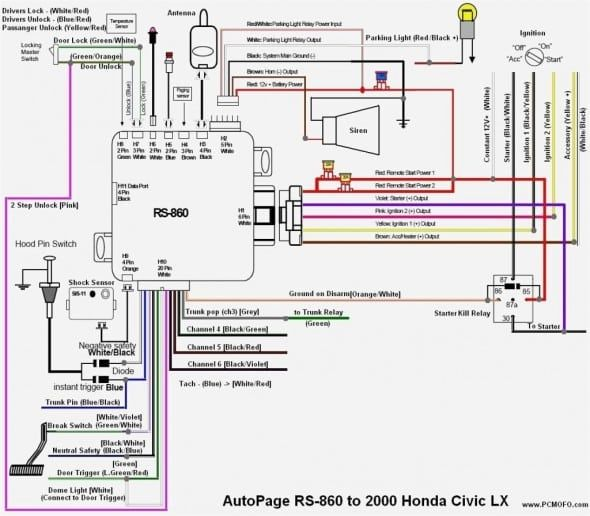 99 honda civic distributor diagram  car alarm honda civic