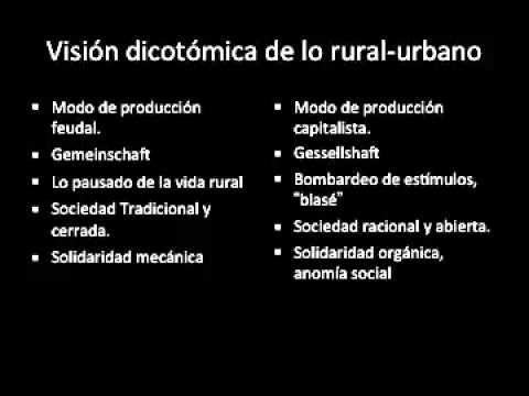 Primera Teoria Sociología Urbana - YouTube