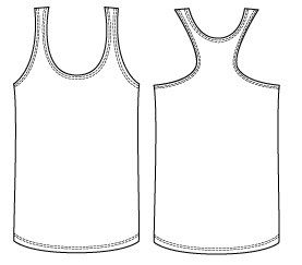 Women's Racer Back Singlet featuring twin needle neck, armholes and hems. Is an invaluable piece in a basics wardrobe. It can be dressed up or down depending on the fabric you use, it can show off …