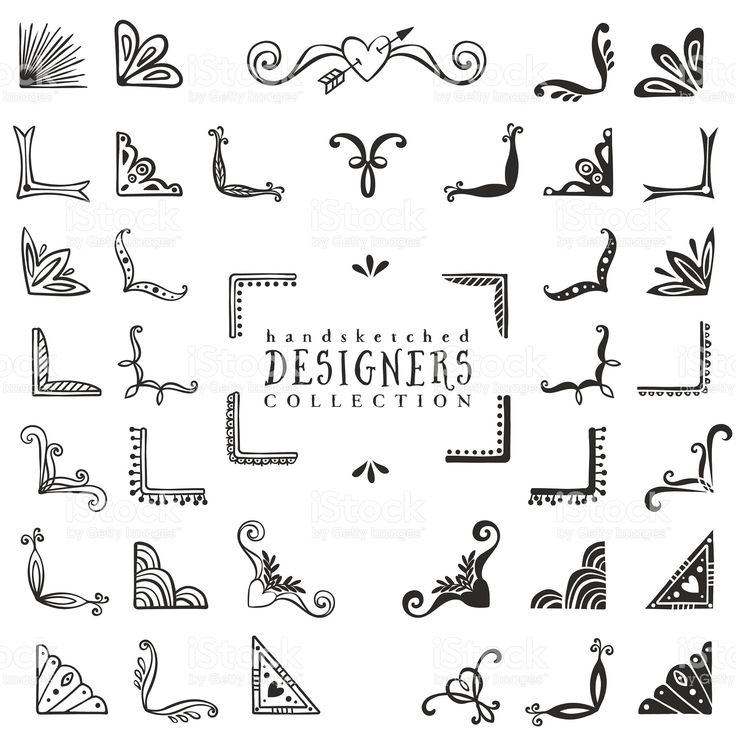 Vintage decorative corners collection. royalty-free stock vector art