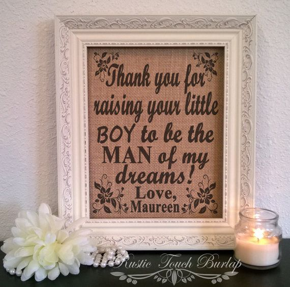 Mother in law gift Mother in law birthday by RusticTouchBurlap