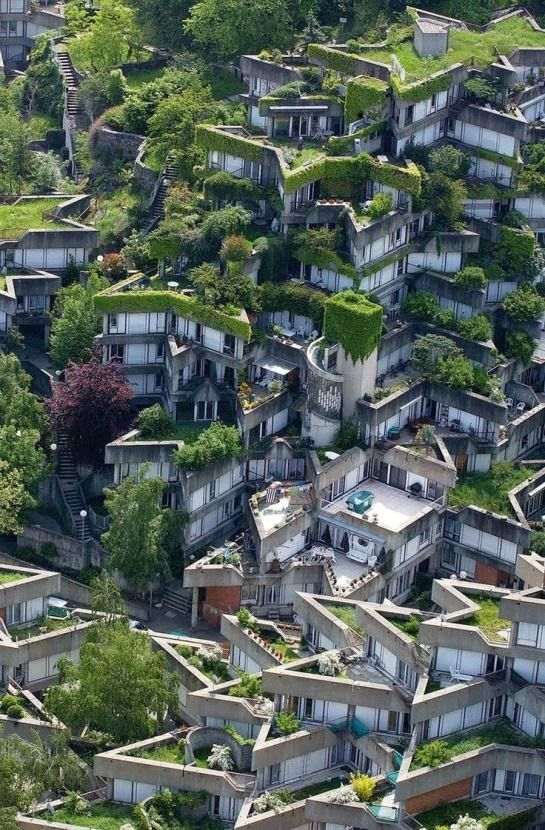 Jean Renaudie, architect in 1970's - his apartment complex near Paris Pinned to Architecture by Darin Bradbury.