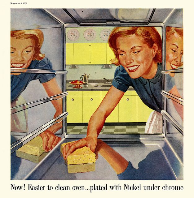 1958 Incos Atomic Housewife Ad ~ Scanned and Re-photographed by Paul Malon