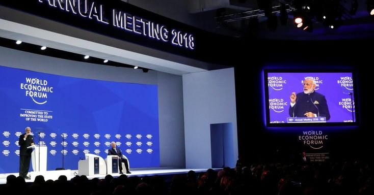 Modi in Davos Praises Globalization Without Mentioning India Trade Barriers
