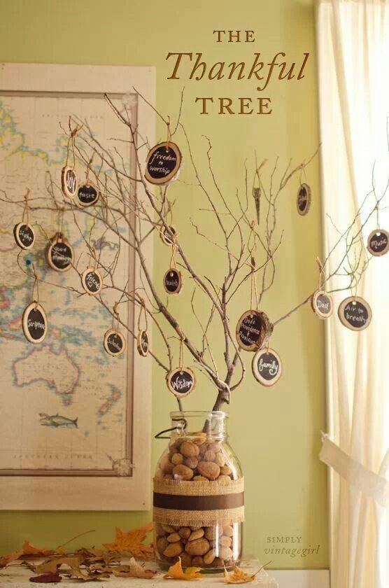Thankful tree is getting your family kids etc. to express what they love and are…