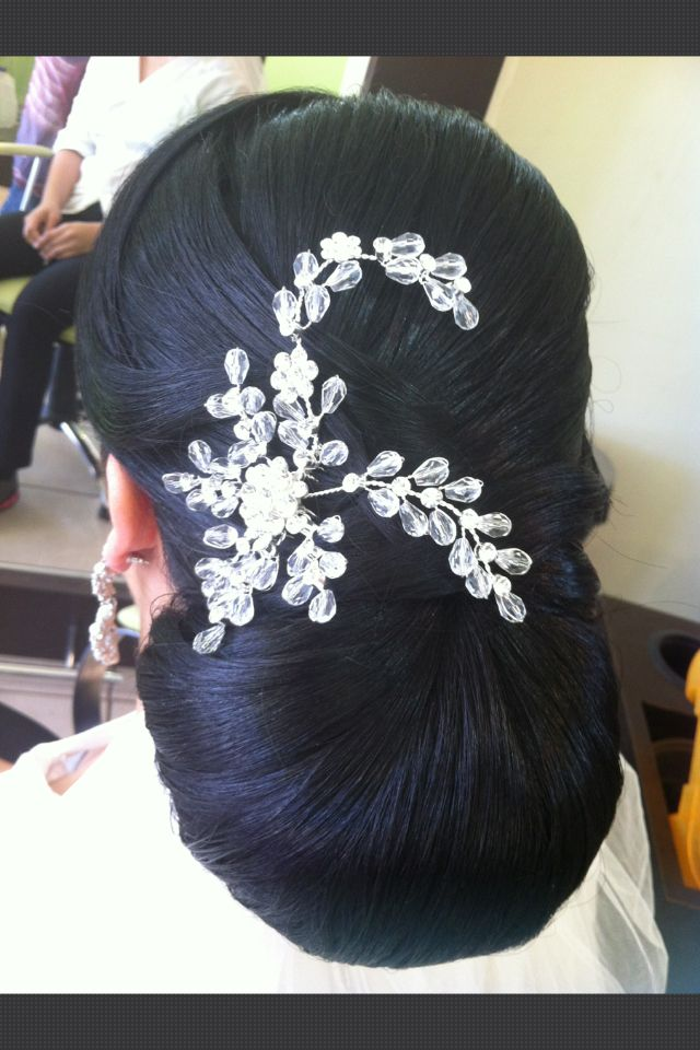 Peinado pulido elegante