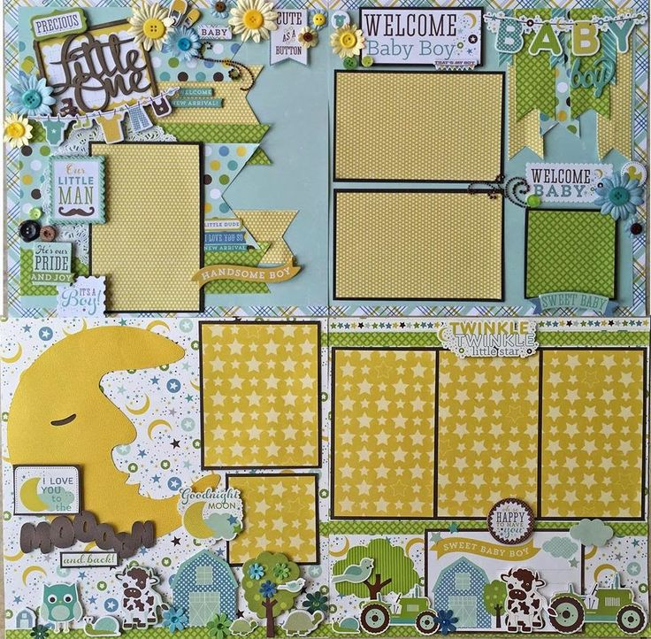 Baby Boy layouts - AMAZING GRACE
