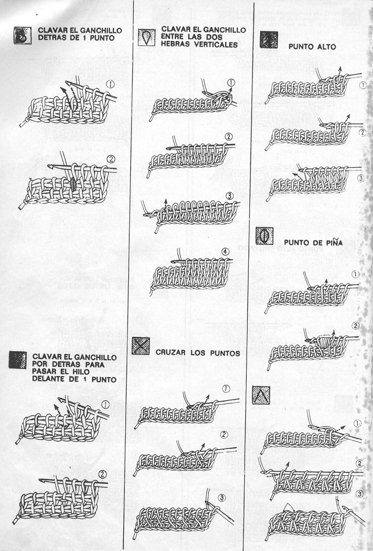 Puntos básicos tunecino 4 / Tunisian basic stitches 4