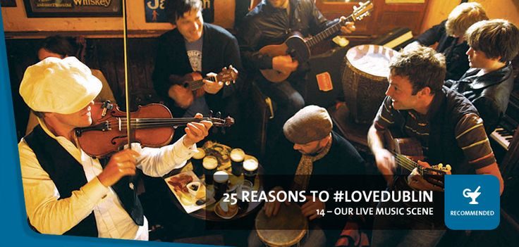 #14: Our Live Music Scene - Whatever type of music you're into, you're never far from a gig in Dublin. Live traditional Irish music sessions take place nightly in dozens of pubs and hotels, and there are plenty of concert venues and clubs hosting local and international bands, artists and DJs.