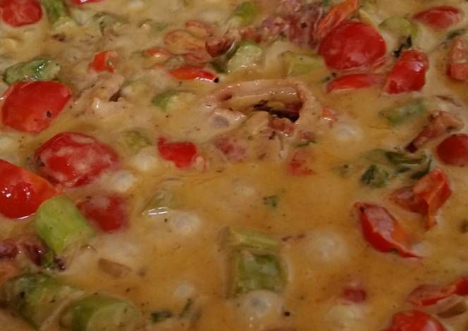 Cabonara twist Recipe -  Yummy this dish is very delicous. Let's make Cabonara twist in your home!