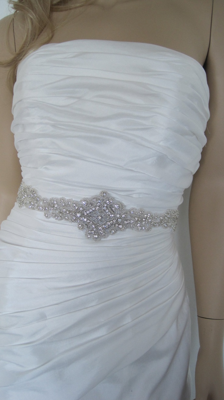 63 best wedding dress belt images on Pinterest | Bridal belts, Short ...