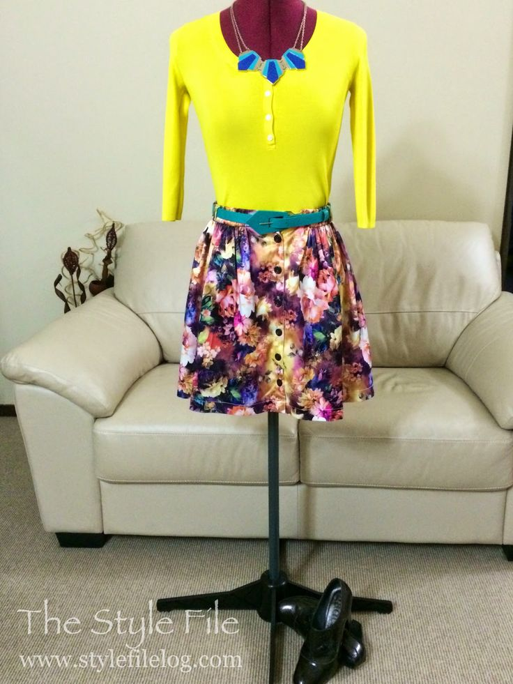 Chicabooti skirt - 3 ways | The Style File Floral fun as this uber-cute satin skirt gets styled up for Friday to Sunday adventures. #casualwear #floral