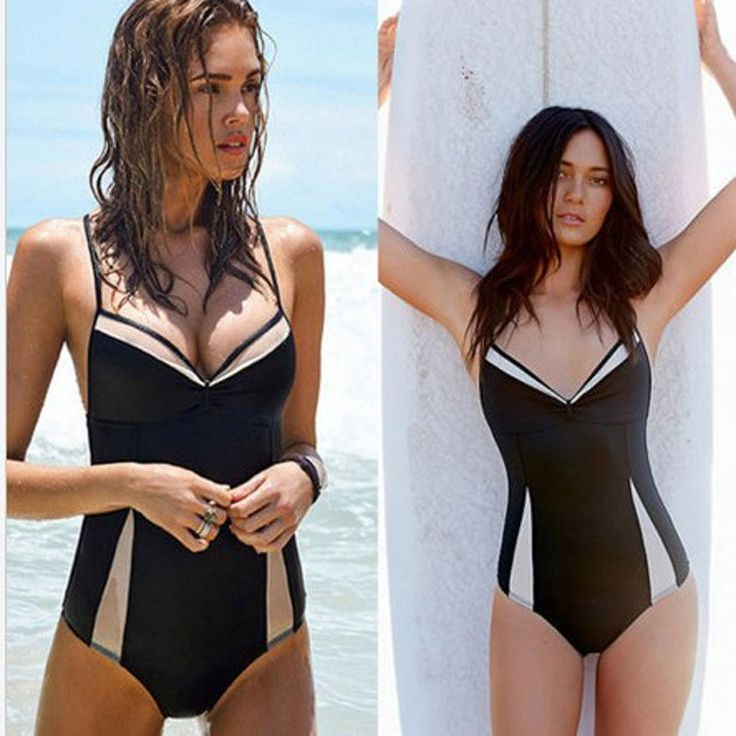 black nude mesh sheer swimwear see thru high cut out one piece swimsuit monokini bathing suits - Stylish n Trendier - 5