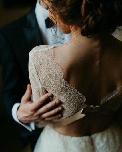 Beautiful back details from our gorgeous bride's Celia dress captured by @belightphotography #divineatelier #divinebrides #weddingdress #bohobride #weddinginspiration