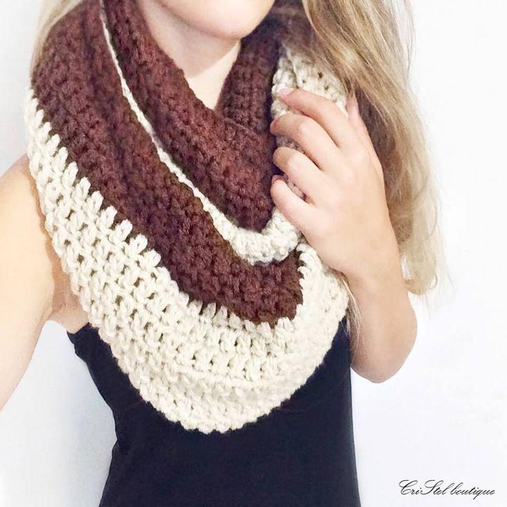 Atractivo Bufanda Infinito Con El Patrón De Crochet Campana Viñeta ...
