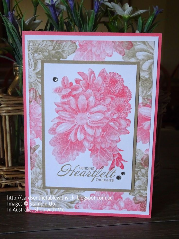( Featuring: Heartfelt Blooms, Saleabration 2018, Stampin Up ) Having a bit of fun with a very pretty Saleabration 2018 Stamp Set. Only ...