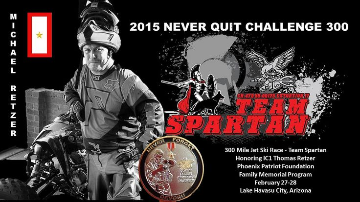 https://flic.kr/p/r1HZ3o   2015 Never Quit Challenge 300 Jet Ski Endurance Race for Veterans   This is gonna be great! 2015 Never Quit Challenge 300 Jet Ski Race 2015 Never Quit Challenge Pit Crew. The 300 would not be possible without an exceptional pit crew fielded with elite individuals. We are honored to have these people on board to assist in our#PhoenixPatriotFoudation #300 #Jetski race on behalf of our select Veterans  The race is a memorial race in honor of Mark Hahn, it is called…