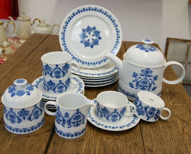 melitta friesland porzellan jeverland friesisch blau 21 tlg teeservice tee tasse antiquit ten. Black Bedroom Furniture Sets. Home Design Ideas