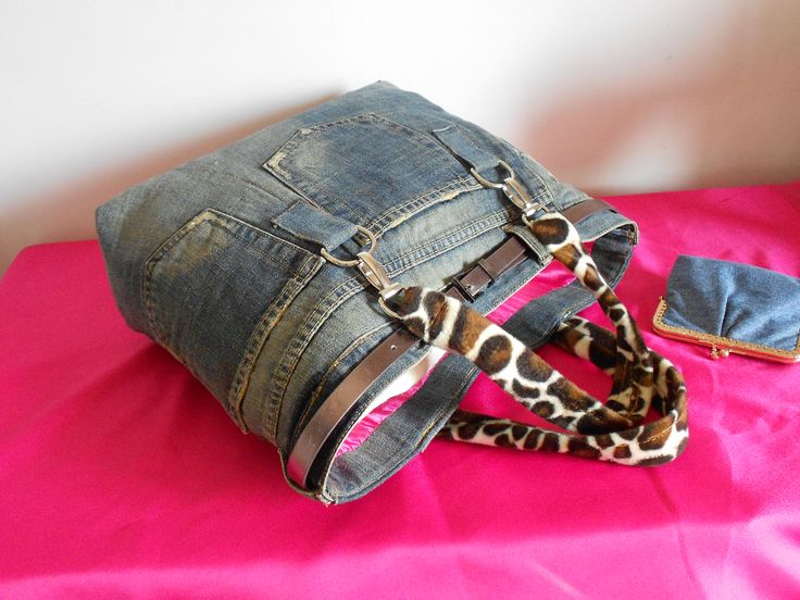 Tokyo bag next to wallet, by My Jeans Bag #denim #jeansbags #style