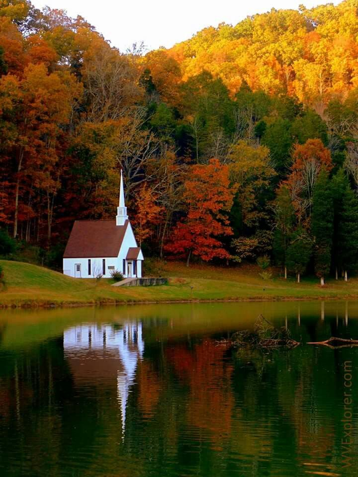 Beautiful picture of a Church in Romance, WV