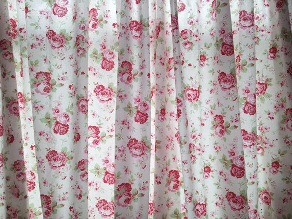 Shabby chic curtains window treatments window by clarashandmade