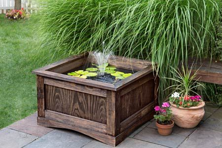 How to make a lily pond gardens planters and house for Simple ponds to build