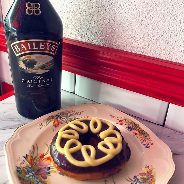 introducing the newest member of our donut family - a creamy Baileys frosting with our dark chocolate ganache ask to have it served with ice cream for a truly life changing experience