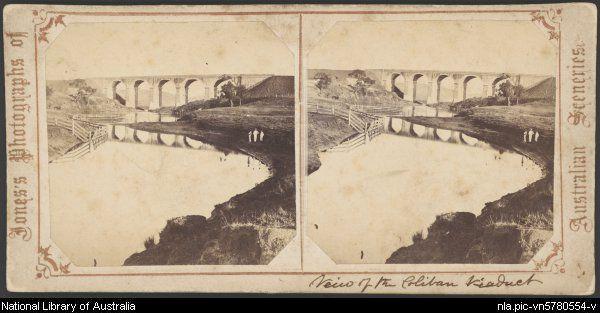 The Malmsbury Viaduct over the Coliban River, Malmsbury, Victoria, ca. 1865 [picture].