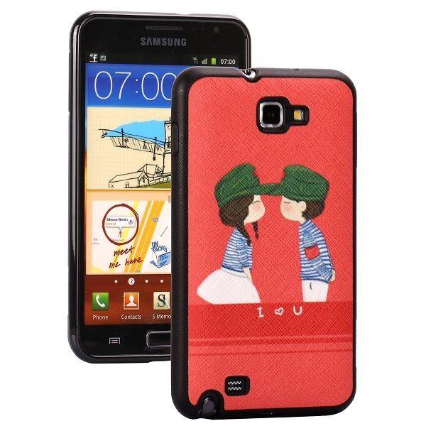 Cartoons (Punainen) Samsung Galaxy Note Silikonisuojus