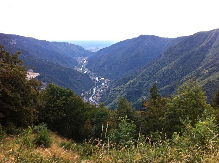 Foza, la valle del Brenta da San Francesco