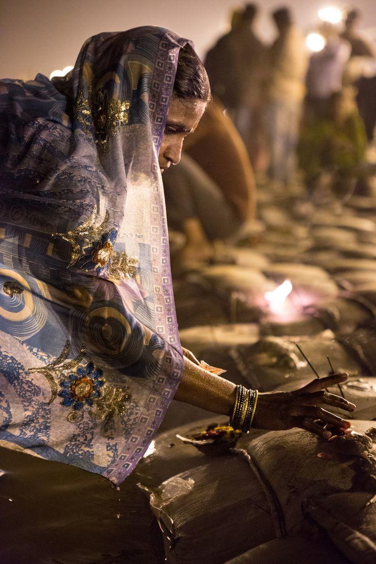 Kumbh Mela Prayer on the Ganges