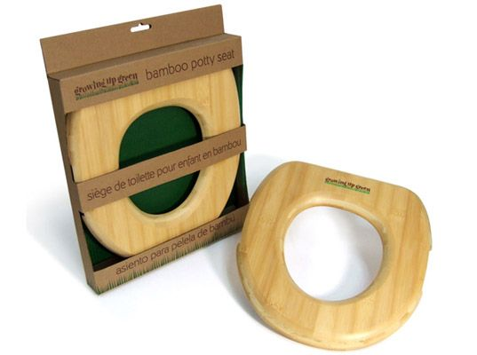 Growing Up Green bamboo potty seat insert (plastic and foam-free) #plasticfreetuesday