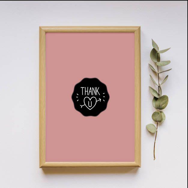 """Nude """"Thank you"""", printable pdf file!"""