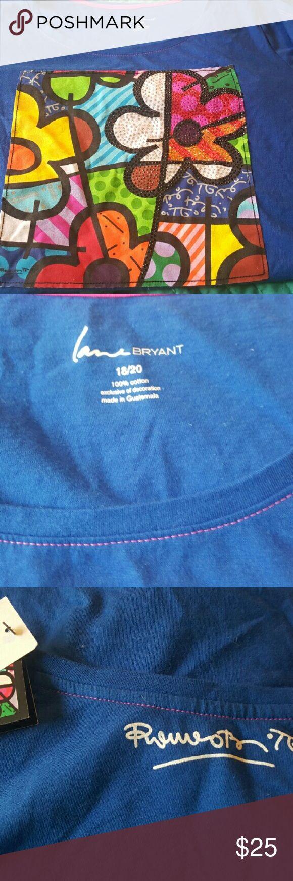 Custom T Shirt Beautiful art work t shirt designed for Lane Bryant by Britto Britto/ Lane Bryant  Tops Tees - Short Sleeve