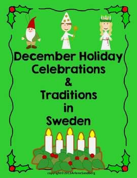 This is a free packet about the celebrations and traditions of Christmas in Sweden.It includes a World Wall, Picture/Word cards, Note Taking Graphic Organizer, Reading Text and a Passport Page. This is an additional country that is not included in my December Holiday Celebrations and Traditions Around the World Unit.