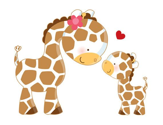 GIRAFFE MURAL DECAL Wall Art for baby girl boy safari animals nursery or children's jungle room decor #decampstudios