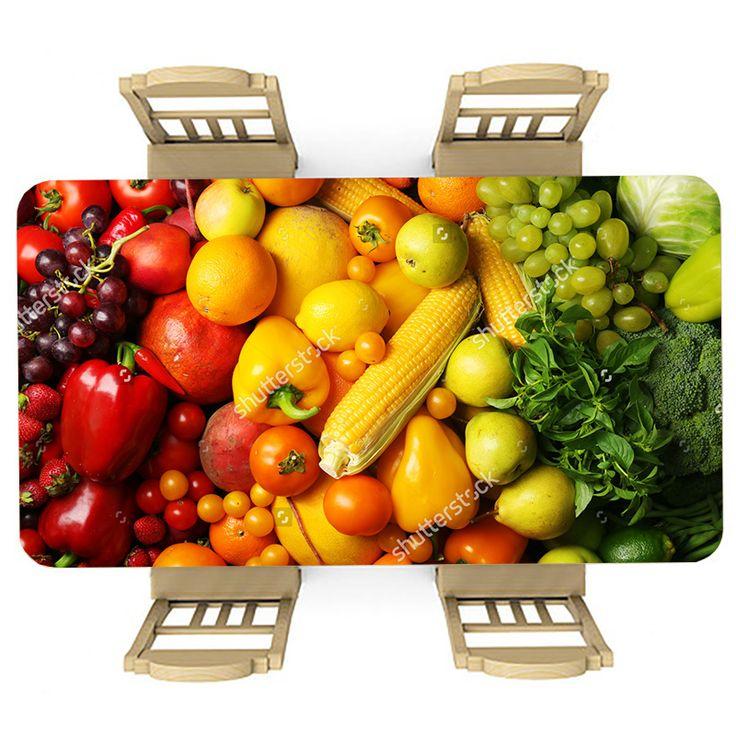Tafelsticker Verse groente | Maak je tafel persoonlijk met een fraaie sticker. De stickers zijn zowel mat als glanzend verkrijgbaar. Geschikt voor binnen EN buiten! #tafel #sticker #tafelsticker #uniek #persoonlijk #interieur #huisdecoratie #diy #persoonlijk #groente #fruit #gezond #lekker #voedsel #eten #kleuren #keuken #paprika #mais #tomaat