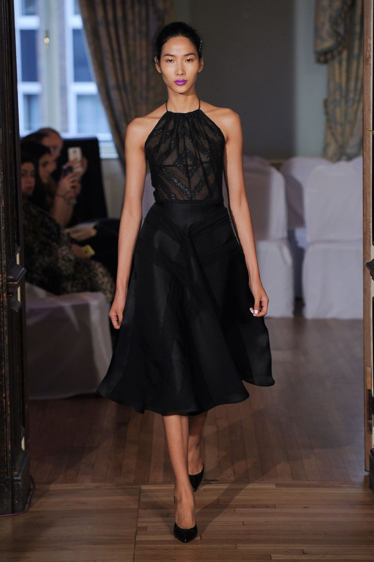 Black fitted mini-dress by emilio de la morena leighton